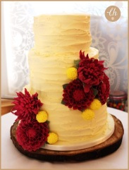 Dahlias Wedding Cake