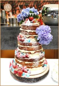 Naked Meringue Wedding Cake